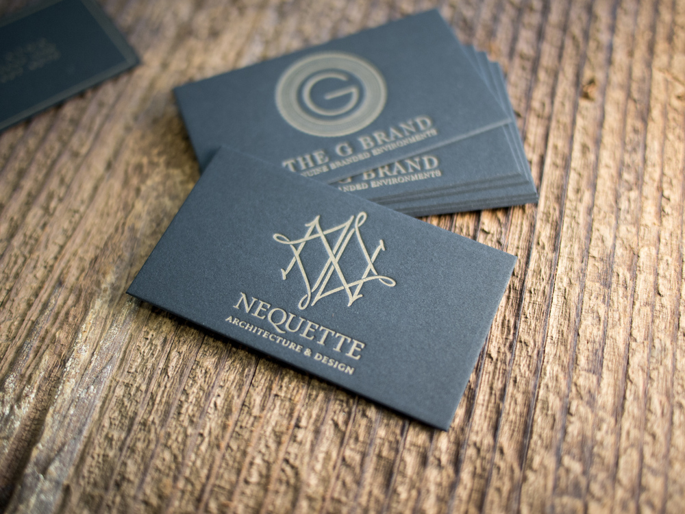 Black Letterpress Business Cards