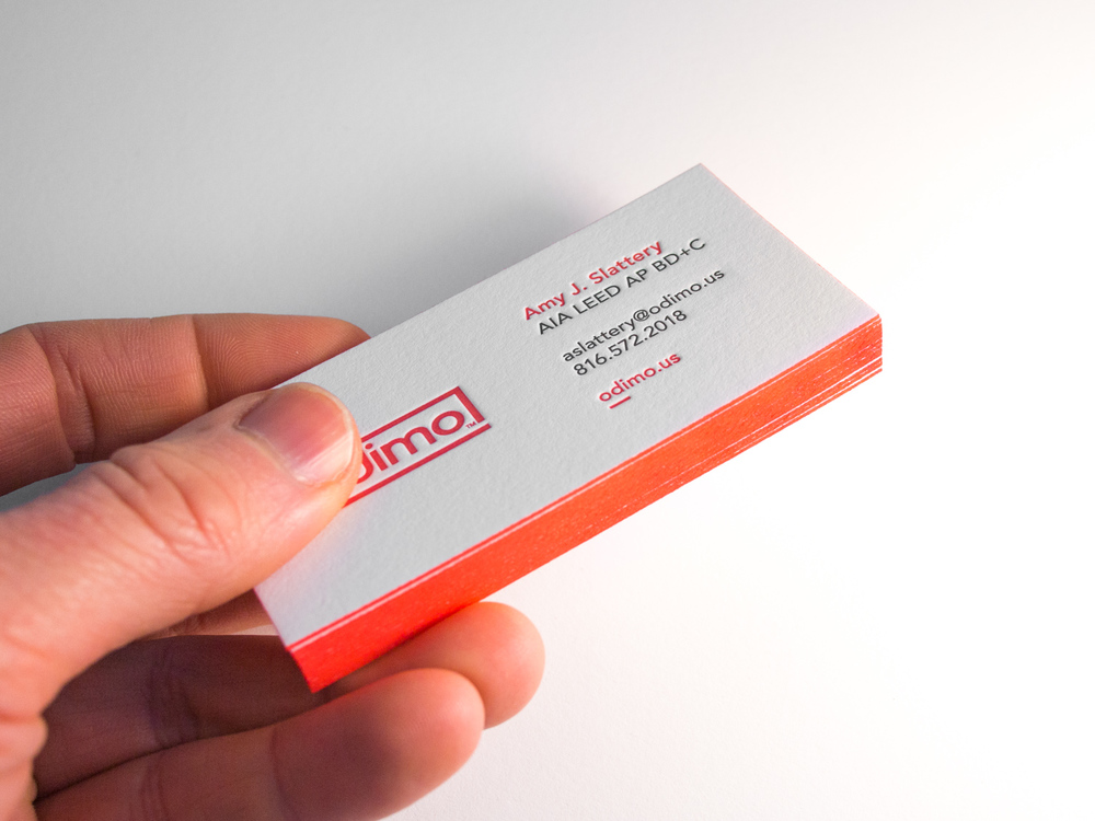 The parklife blog architect letterpress business card reheart