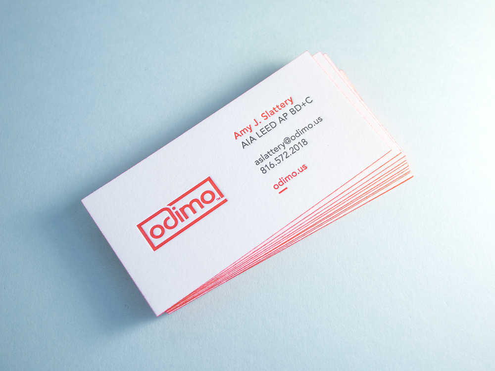 Architect Letterpress Business Card