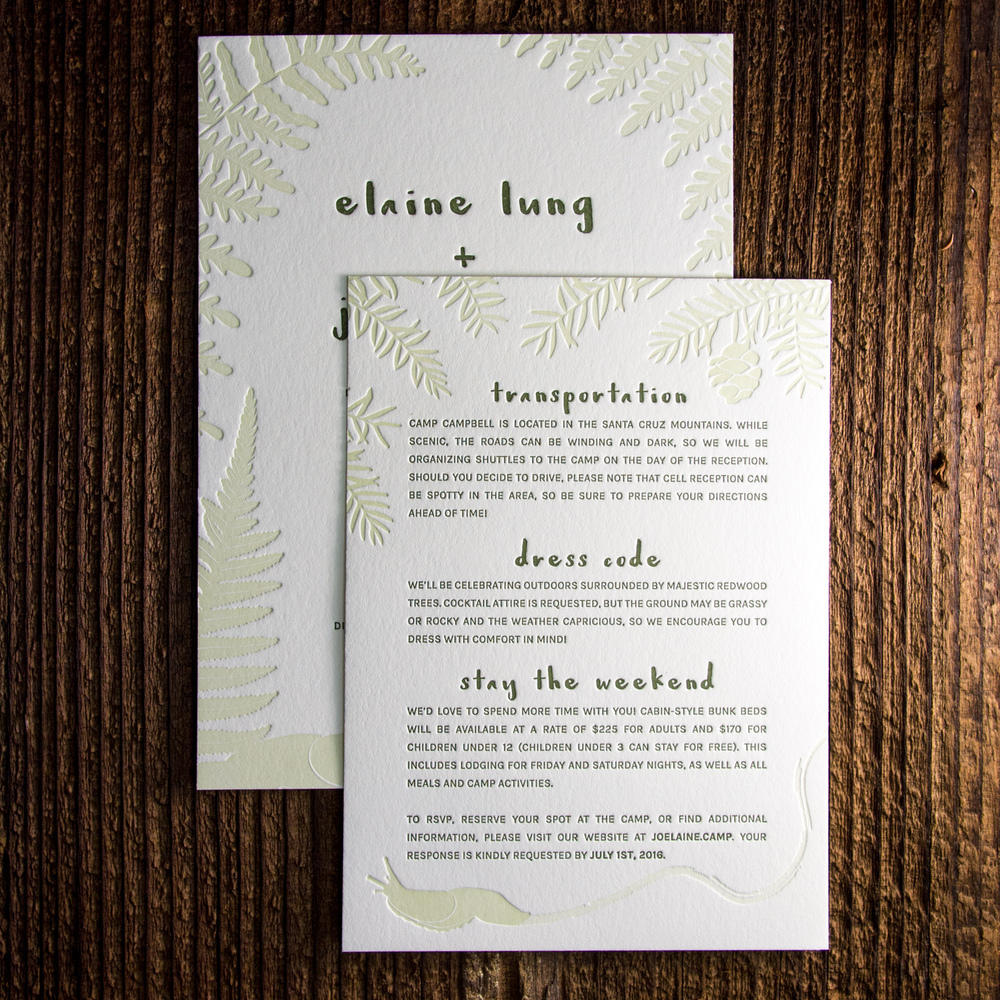 Forest Invitation Set