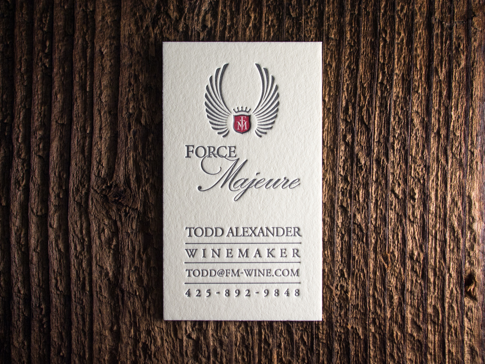 Letterpress Wine Business Card