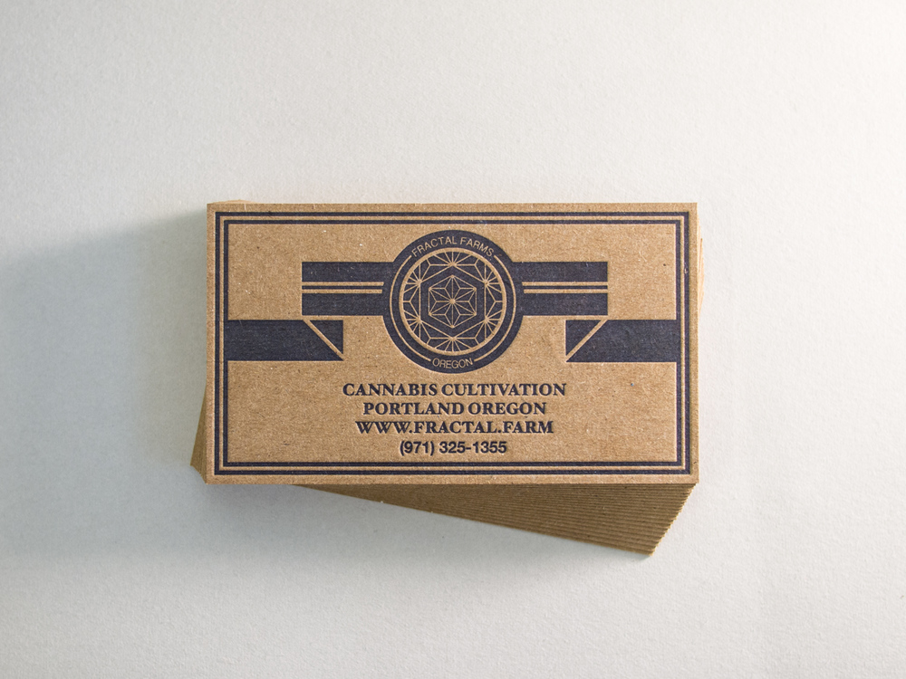 Chipboard Letterpress Business Cards