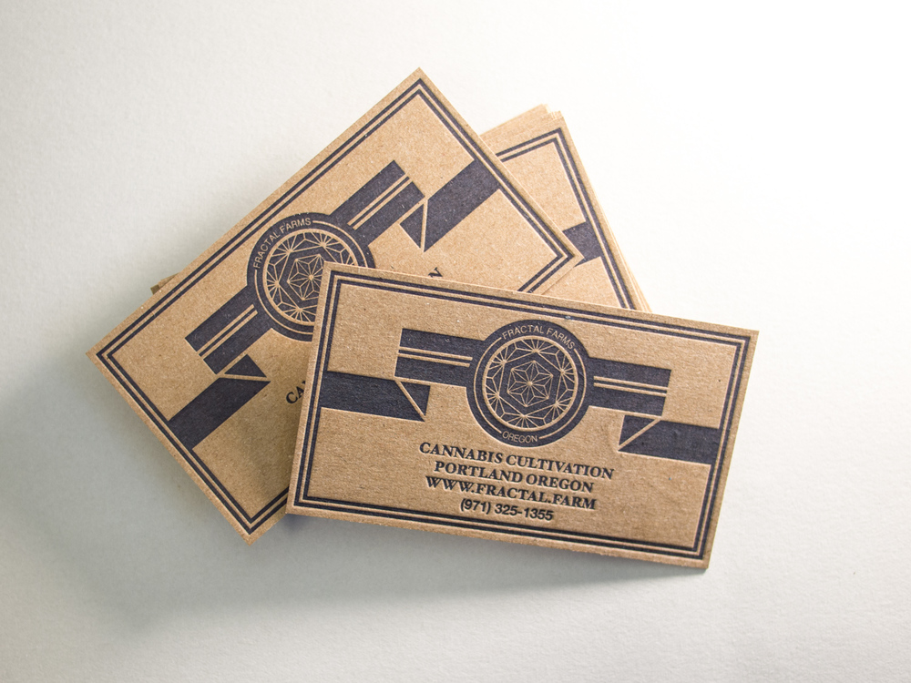 Recycled Letterpress Business Cards
