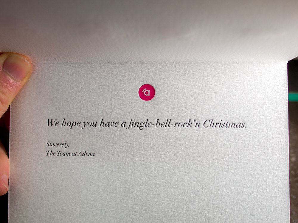 Letterpress Christmas Card