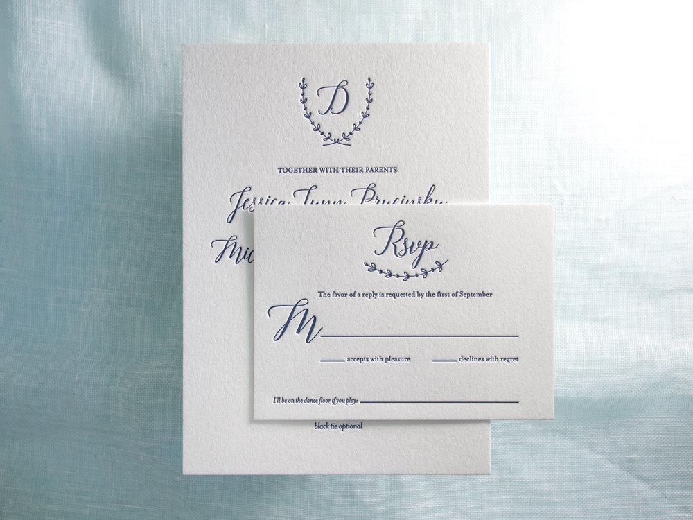 Letterpress Invitation Set