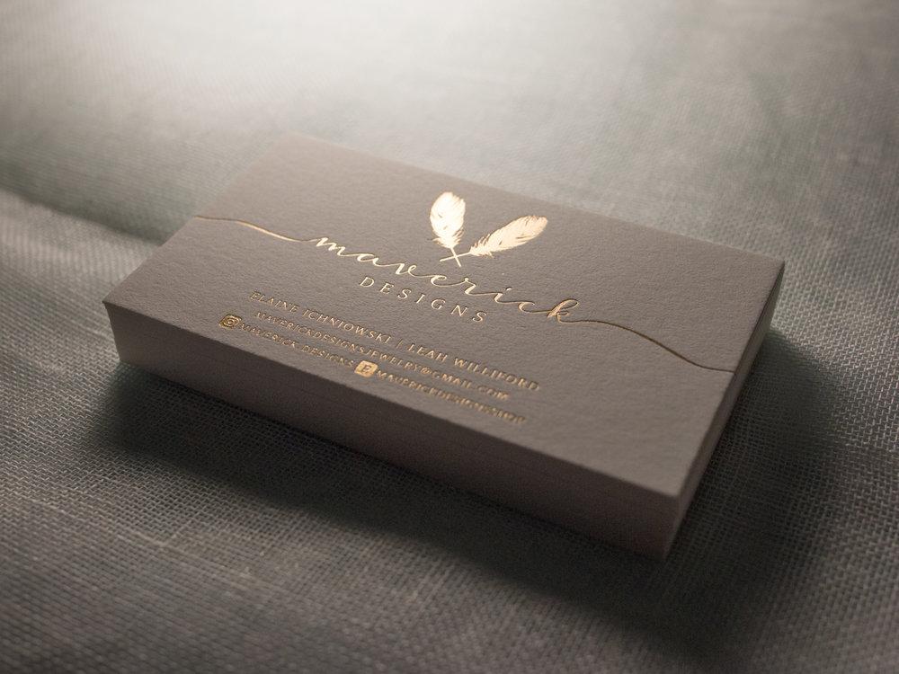 Satin Gold Foil Business Cards The Parklife Blog