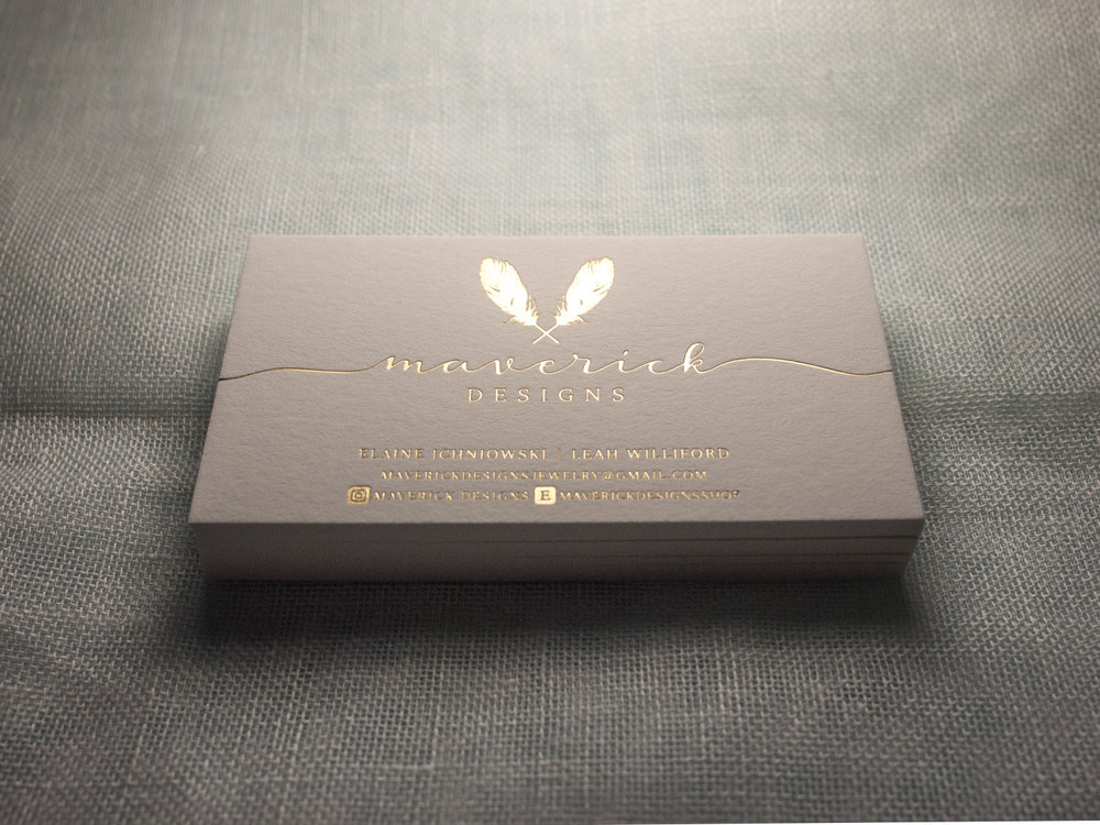 Gold Satin Business Cards