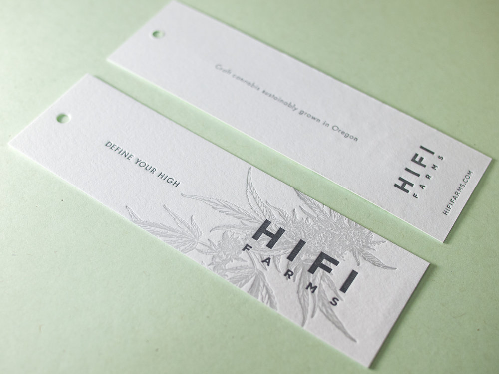 Letterpress Product Tags