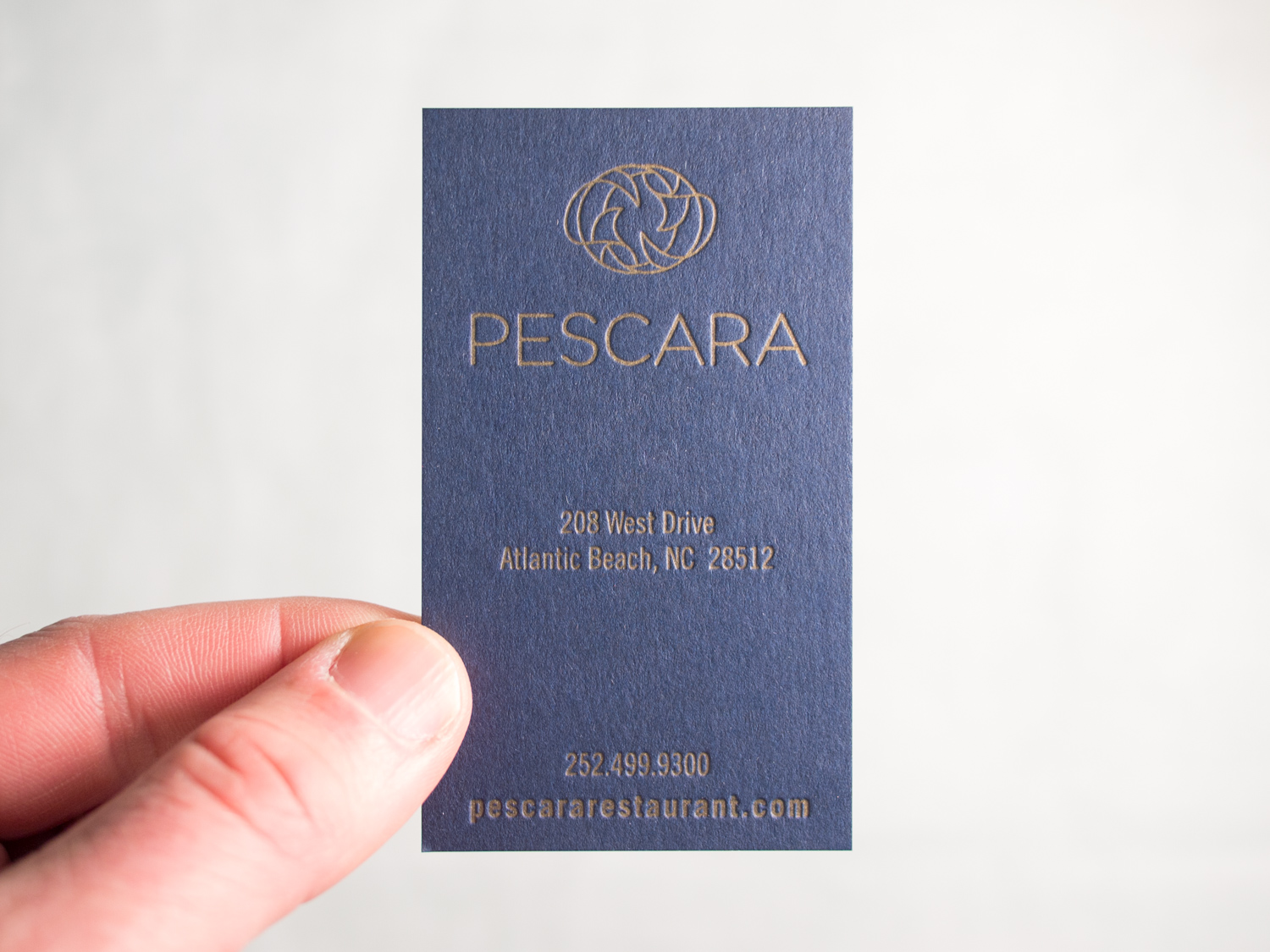 Gold & Navy Business Cards for Pescara — the Parklife Blog