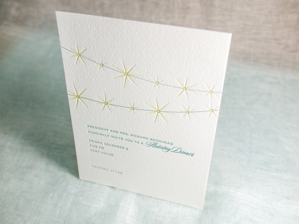 Lights Letterpress Holiday Card