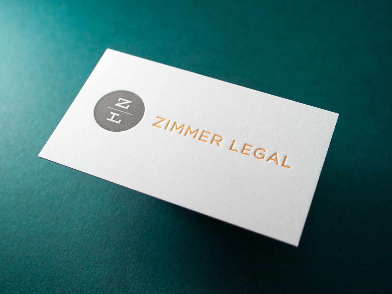 Letterpress Business Cards for Zimmer Legal — the Parklife Blog