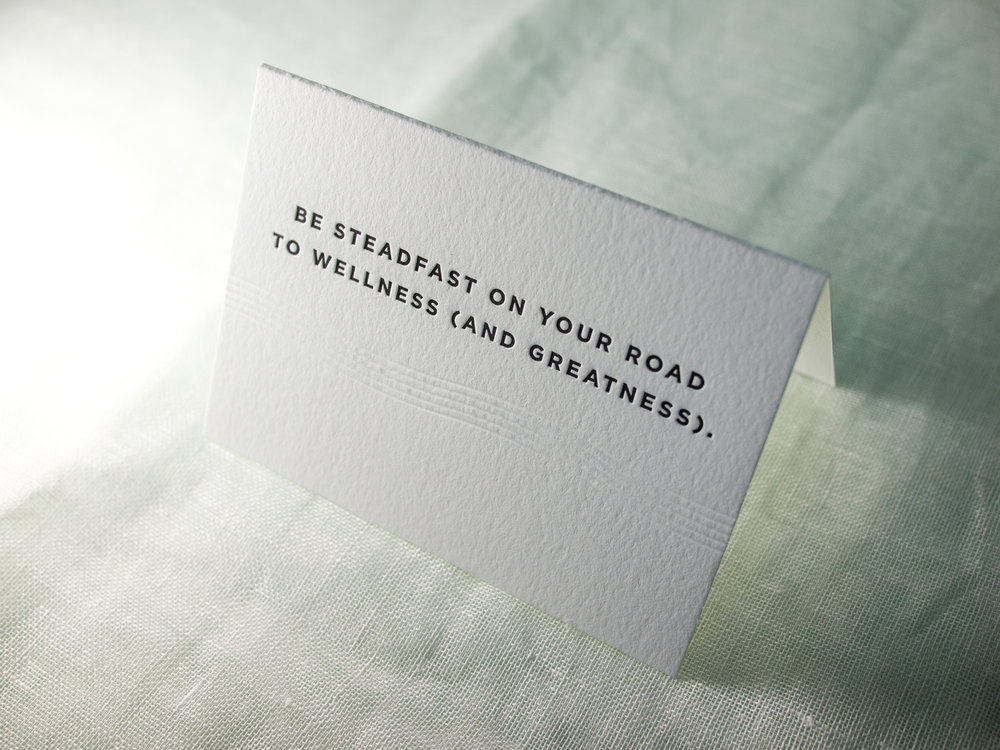 Folded Letterpress Card