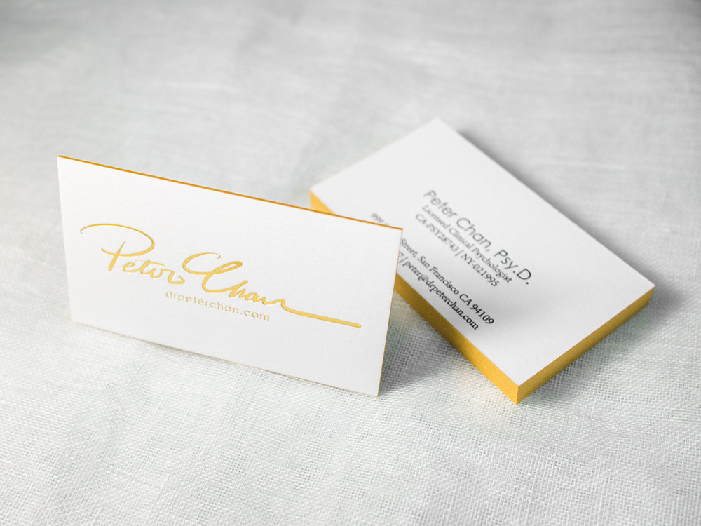Gold Letterpress Business Cards
