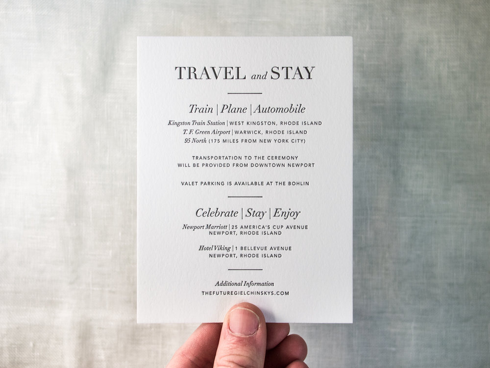 Letterpress Travel Insert