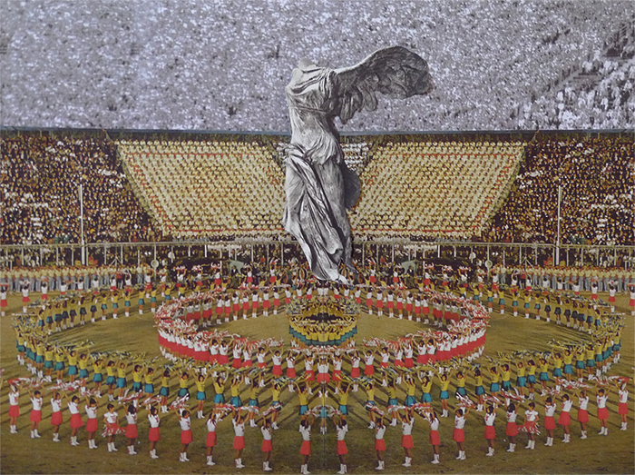 C aroline Kha, 2012, Opening Ceremony: Nike Winged Victory, Handmade Collage