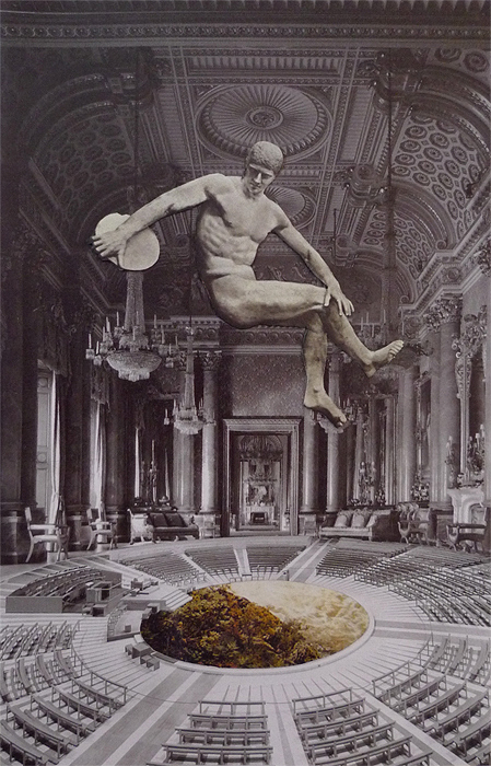 C aroline Kha, 2012 ,The Main Event, Handmade Collage