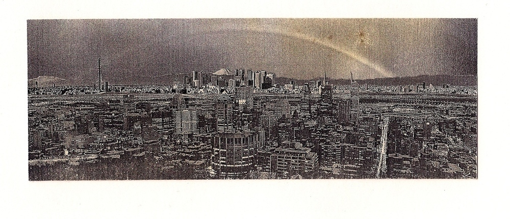 Whilst in the Grand Canyon, a sunset fell over Shinjuku and Montreal, Handmade collage, 2010