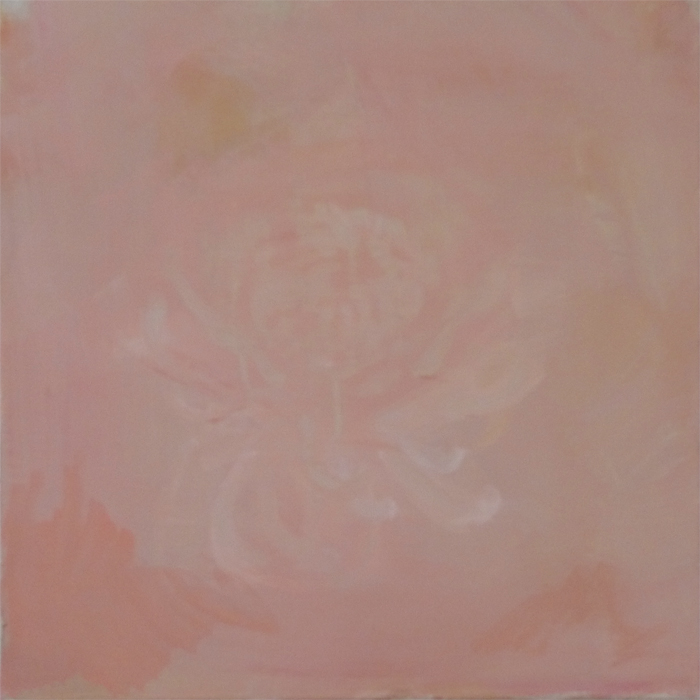 Caroline Kha,  Chrysanthemum I,  Oil on canvas, 40 x 40 ©