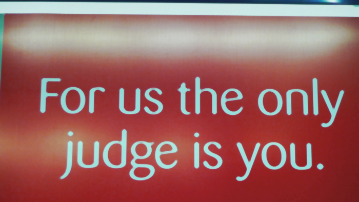 for us the only judge is you.jpg