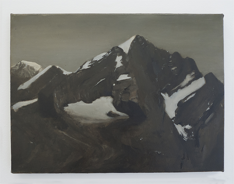Caroline Kha,  Survey: Alps , 2013. Oil on canvas, 40.5 x 30 cm © dalla Rosa gallery