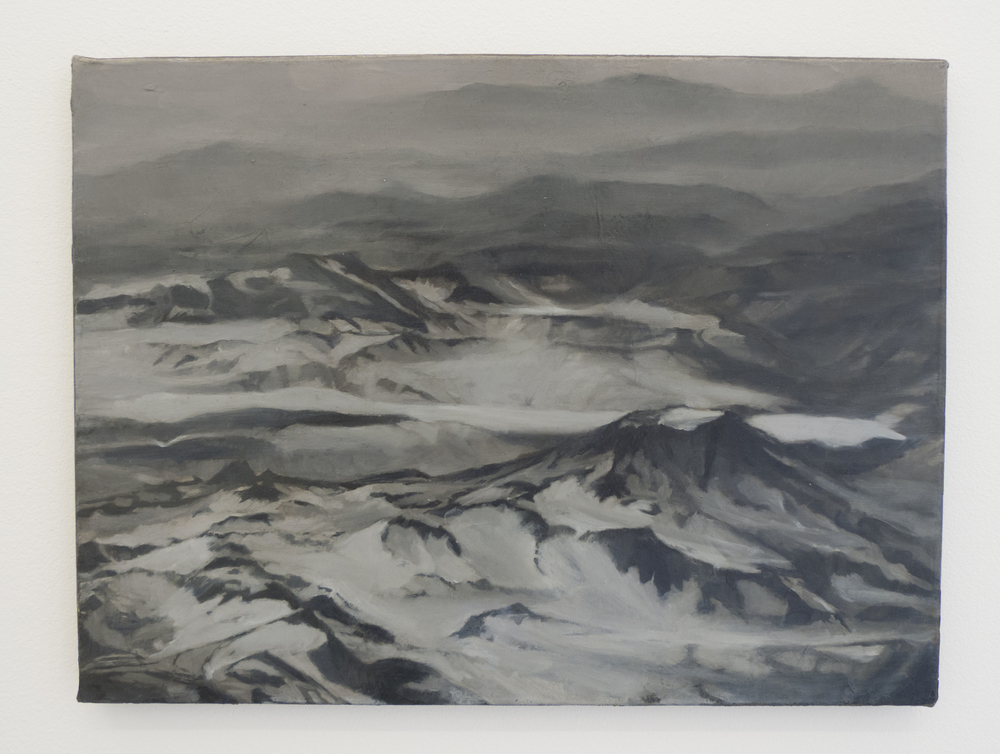 Caroline Kha,  Survey: Cerro Azul, Patagonia , 2013. Oil on canvas, 40.5 x 30 cm © dalla Rosa gallery