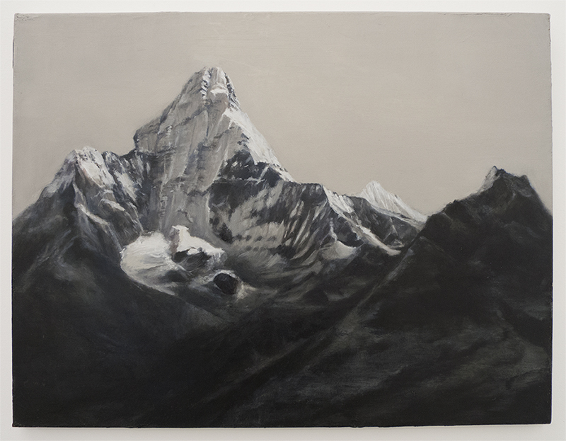 Mountains Survey Ama Dablam, Nepal (2013), oil on canvas, 60.5 x 45.5 cm. © Caroline Kha, courtesy of dalla Rosa Gallery