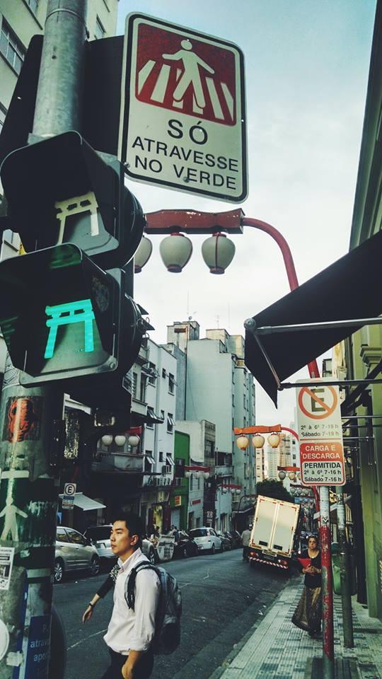 Nas areas turísticas em São Paulo, os semáforos representam seus respectivos monumentos. As pessoas repararam nos detalhes em uma cidade tão grande?