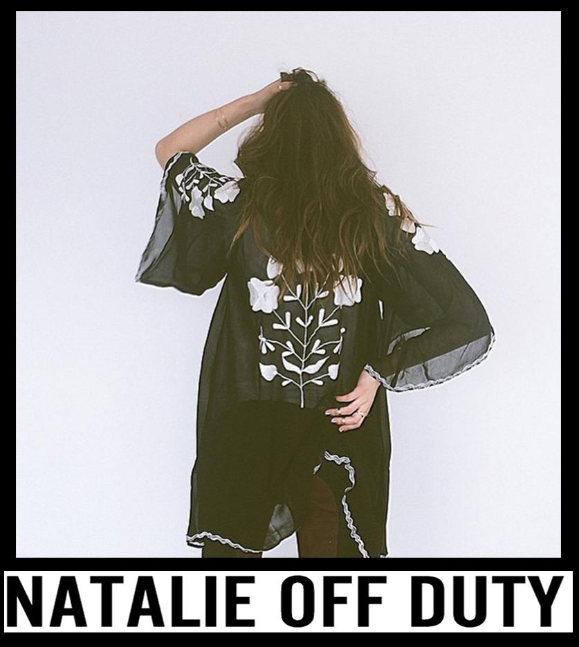 Natalie Off Duty in Matador Kimono