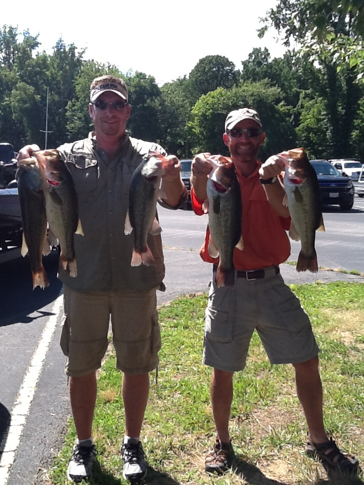 James Harner and Phil Crews First Place and Big Fish 16.70 lbs and 4.28 lbs