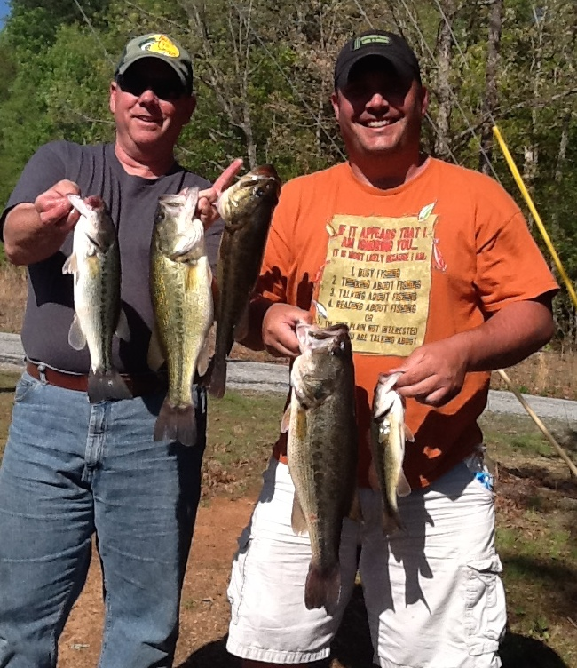 Tim Handy and Barry Gunn Fifth Place 13.14 lbs