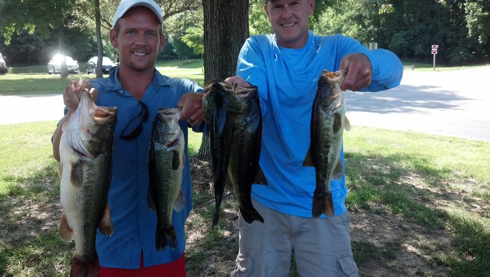 Michael and Mark Heatwole First Place and Big Fish 15.14 lbs and 6 lbs