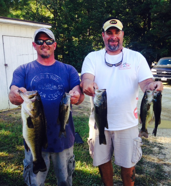 Bobby O'Brien and Jim Jarvis day one 11.92 lbs and Big Fish 6 .75 lbs