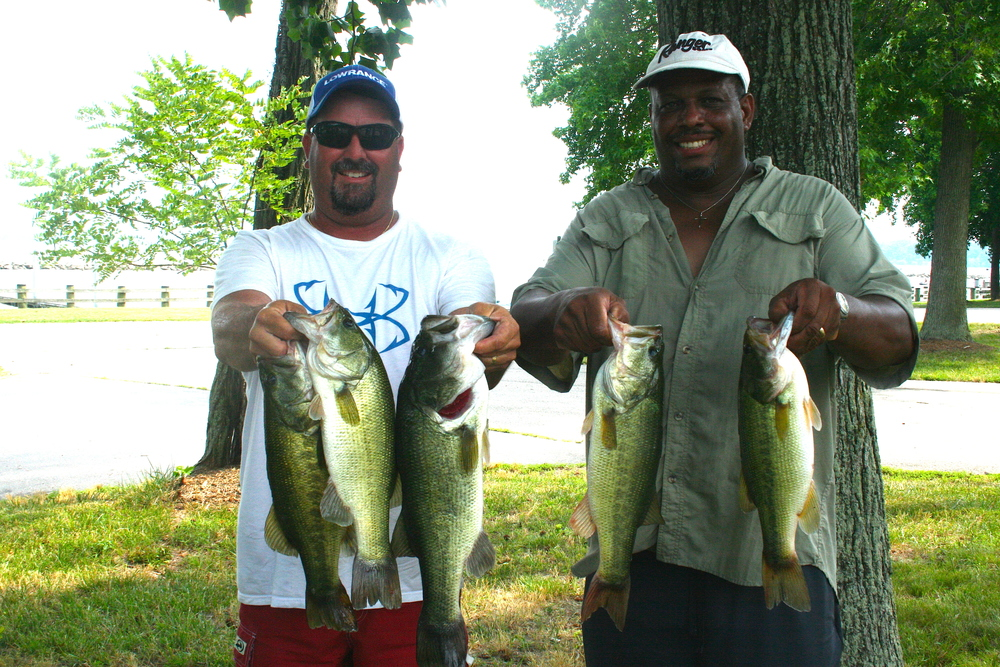 Melvin Bowling and Scott Falls Second Place and Big Fish 12.53 lbs and 3.42 lbs