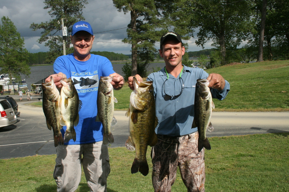 Mark and Michael Heatwole Second Place and Big Fish 18.60 lbs and 8.54 lbs