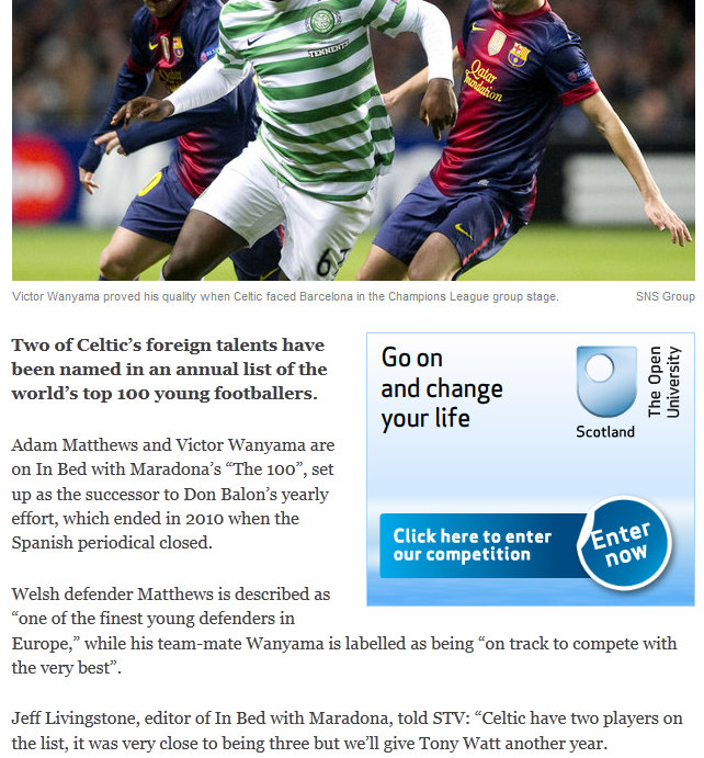 STV Sport, December 2012