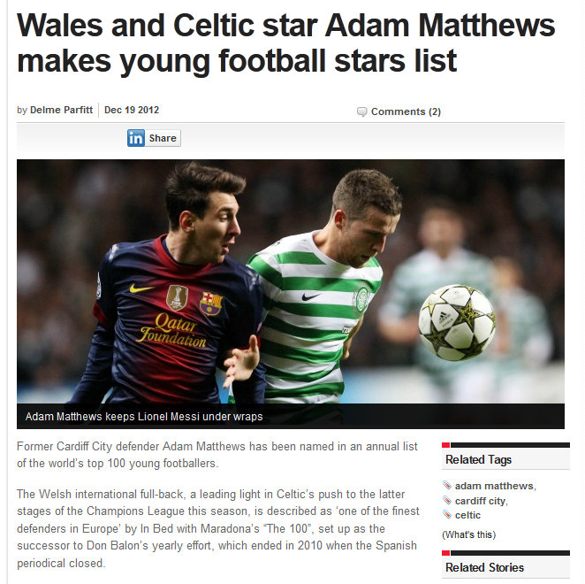 Wales Online, December 2012.
