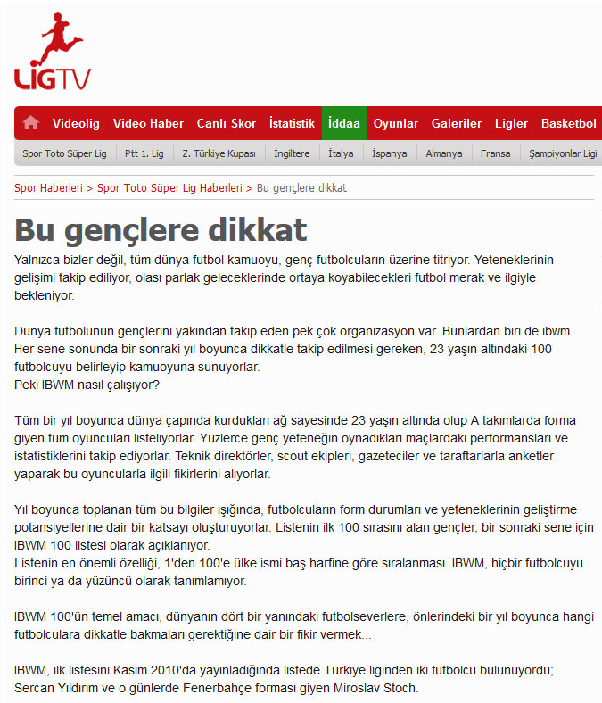 LigTV (Turkey), December 2013