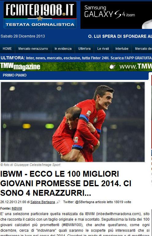 FC Inter 1908 (Italy), December 2013