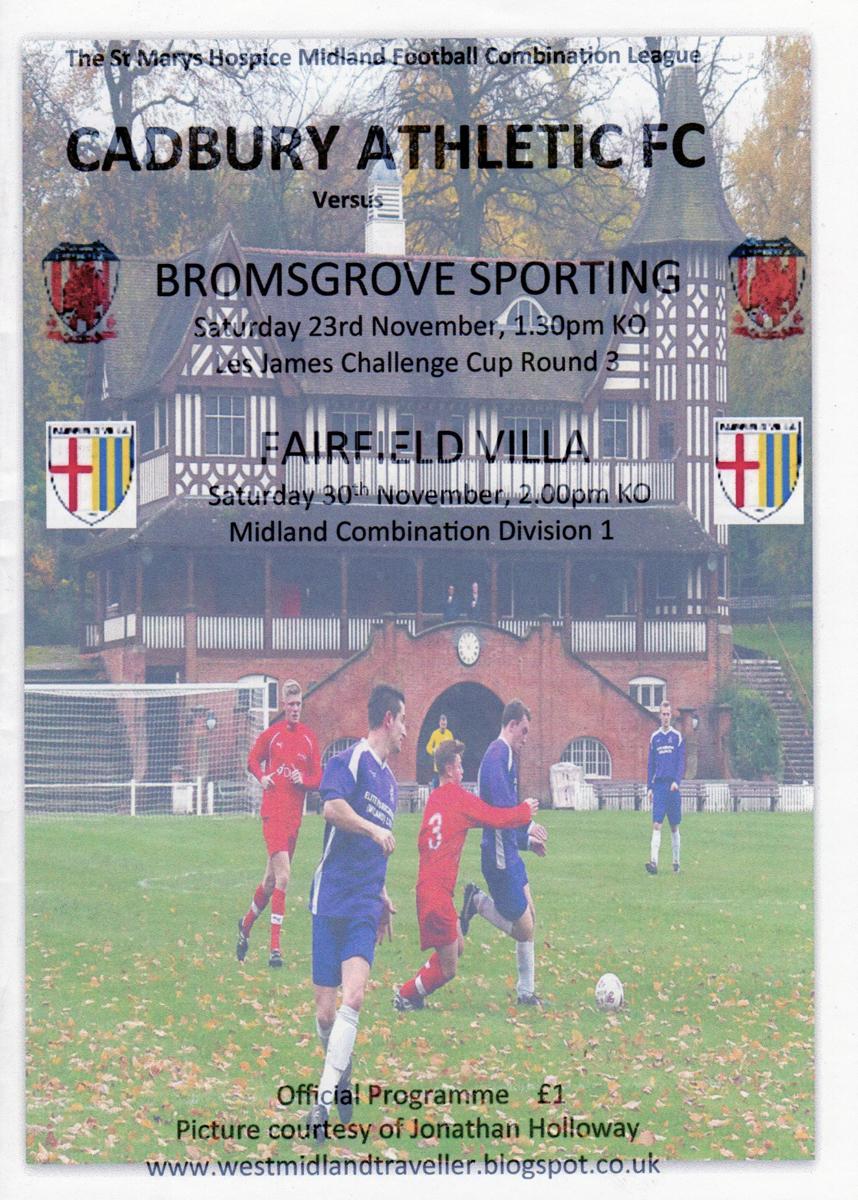 Cadbury Athletic FC matchday programme.jpg