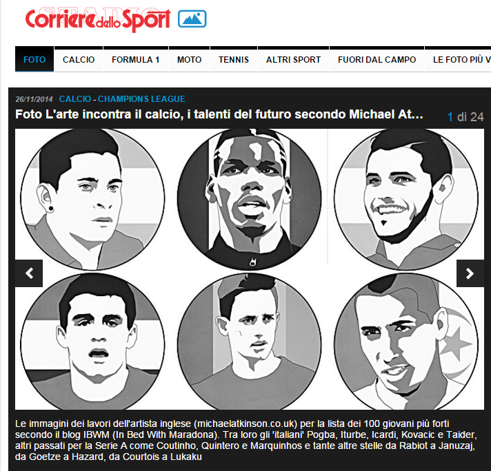 Corriere dello Sport, online and in print, November 2014