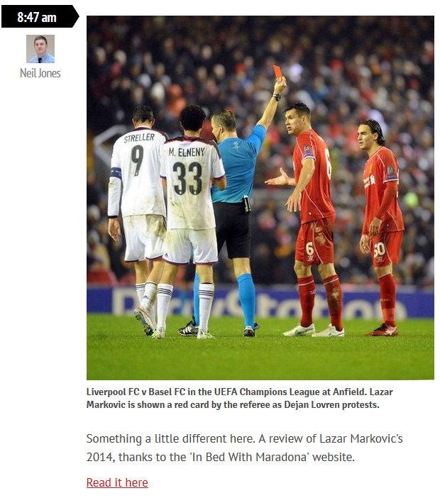 Liverpool Echo, UK, December 2014