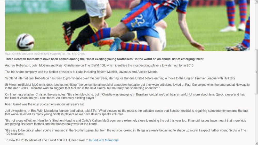 STV Sport, Scotland, December 2014