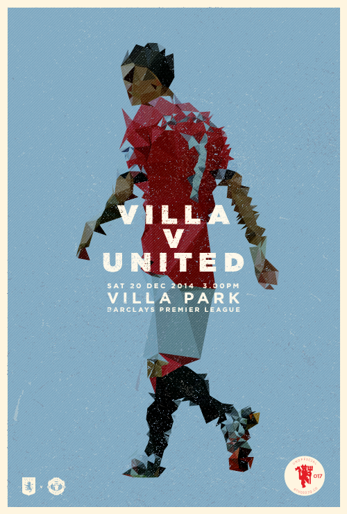 MANCHESTER UNITED MATCHDAY POSTERS BY STUDIOJQ — IBWM