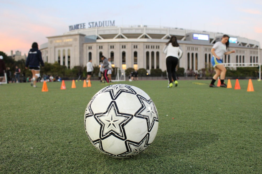 Through its fútbol program, South Bronx United brings together players from all corners of the globe with different ethnicities, nationalities and languages. Kervy Robles for After the Final Whistle.