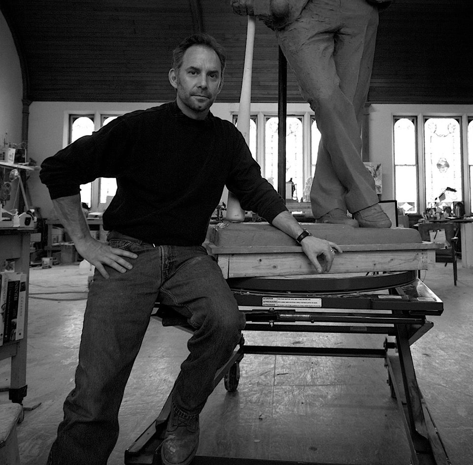 Lawrence J. Nowlan in his Windsor, Vermont studio. Click on the image to see the full gallery