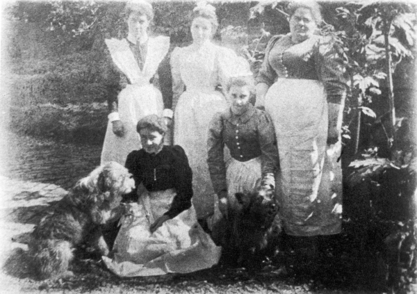 Sophia Farrell pictured far right and standing. Photographer and date unknown.