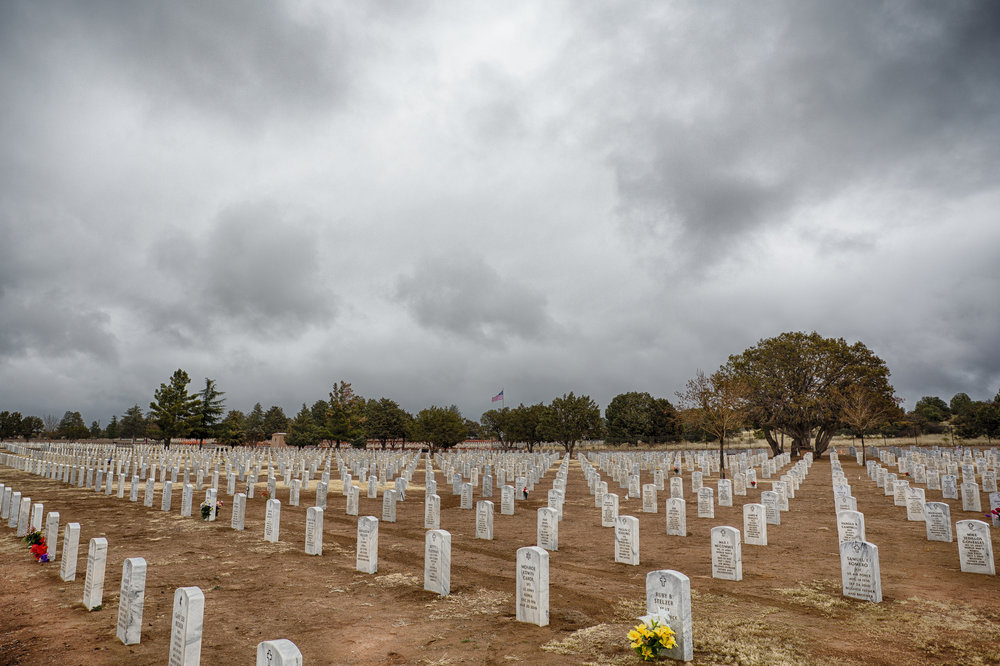Fort Bayard National Cemetery.  Photograph by Nathan Larson