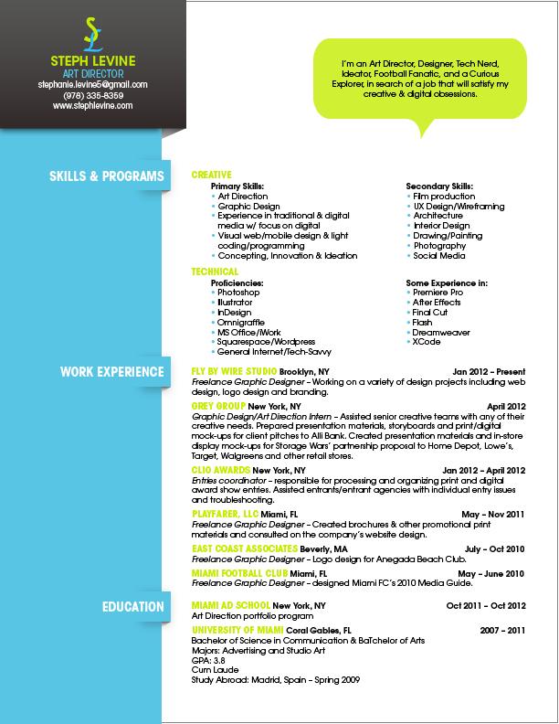 resume steph levine - Ui Ux Resume