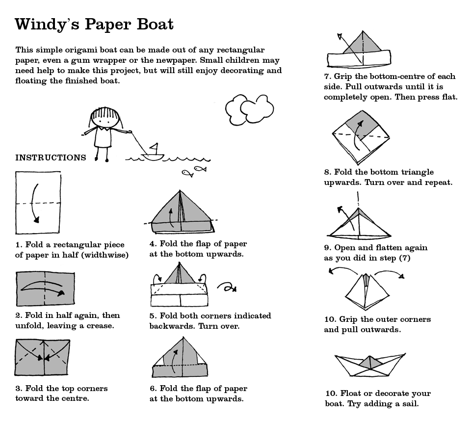 Make a paper boat with your children -- will it sink or float ... | 858x962