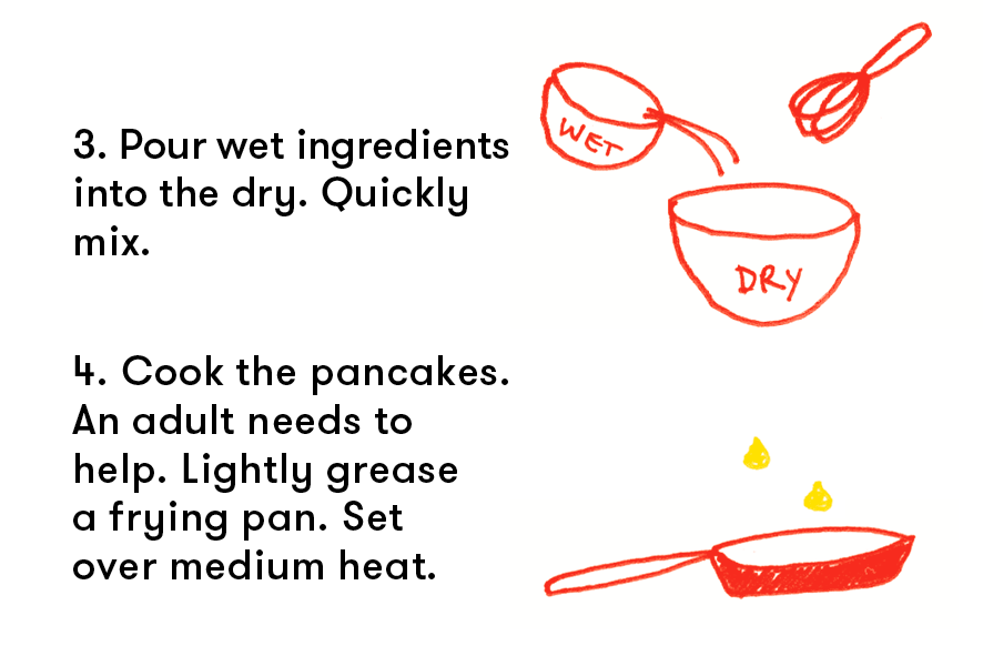 Easy pancake recipe for kids pillsbury paris for Basic cake recipe for kids